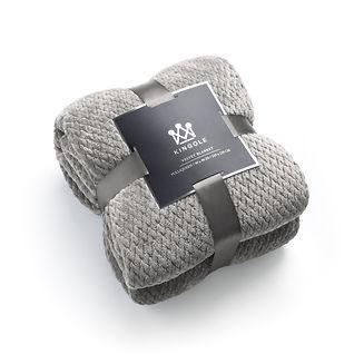 Kingole-Jacquard-Blanket-6127-Light-Gray