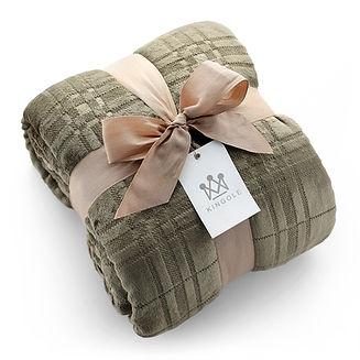 Kingole-Patterned-Blankets-6199-Green.jp