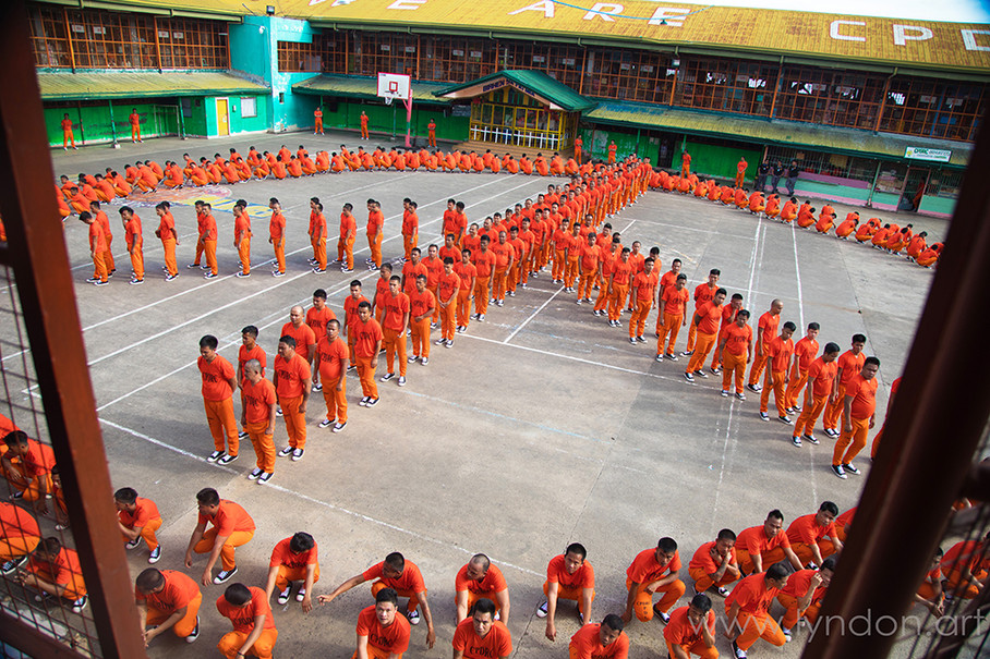 A peace symbol is formed at the end of their performance.