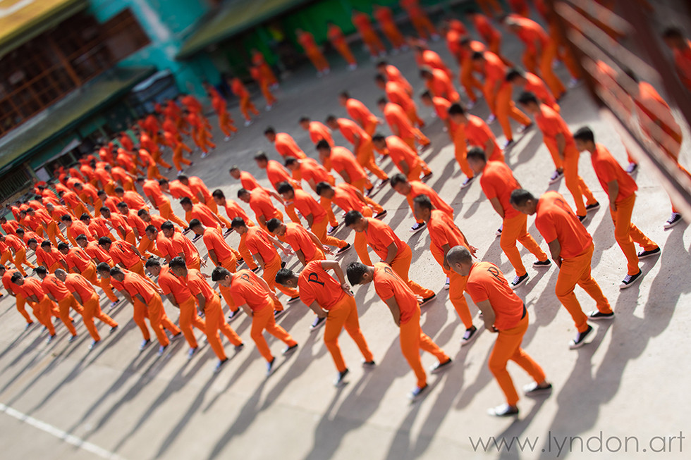 The CPDRC inmates skillfully dance to Michael Jackson's Thriller.