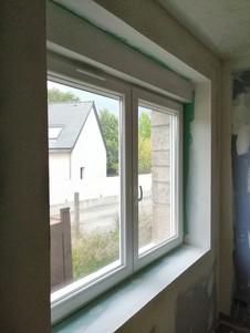 pose installation de fenêtre maison ancienne pluguffan