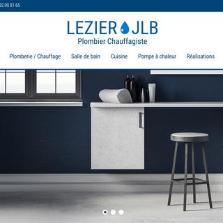 site internet Lezier plomberie nantes