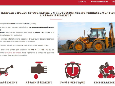 création site internet terrassement assainissement 44 Nantes fosse septique 49 Cholet