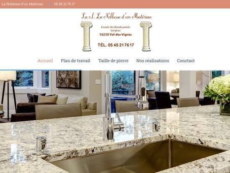 création site internet tailleur de pierre naturelle granit Bretagne plan de travail Charente 16