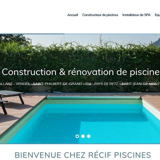 Site internet de récif piscine à Challans