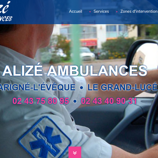 site internet Alize Ambulance