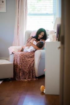 Family | 2020 | Mommy & Baby in Nursery