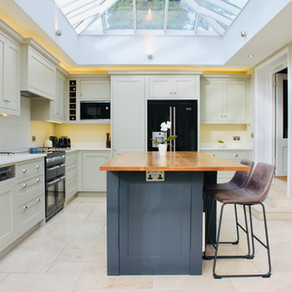 Bespoke Drop Cloth Kitchen - Grayshott, Surrey