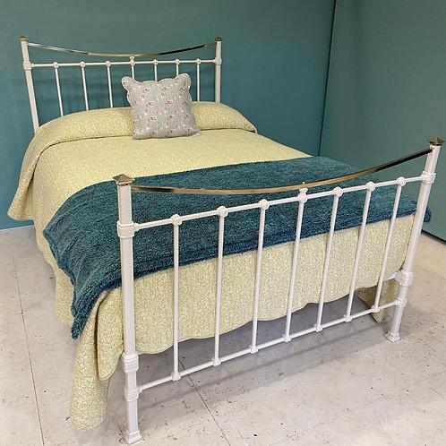 Double - Edwardian Brass & Iron Bed - OM138