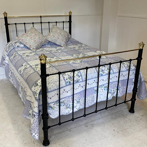 Double - Victorian Brass and Iron Bed - OM145