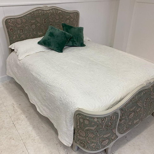 Double - Antique French Upholstered Bed - UP063