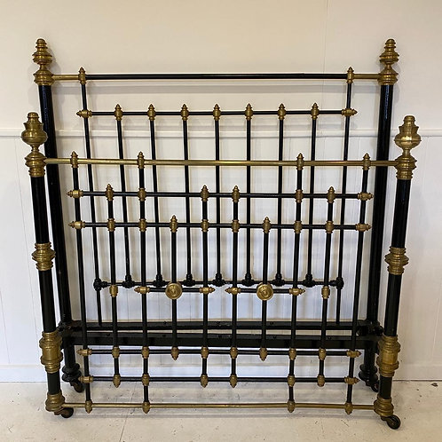 English Antique Victorian Kingsize Bed - OM105