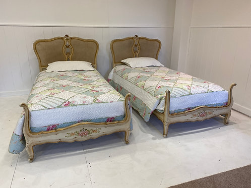 Single - Pair of Caned Beds – OC001