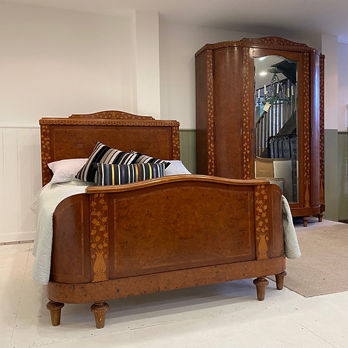 Kingsize - French Burr Walnut Bedstead - OW012