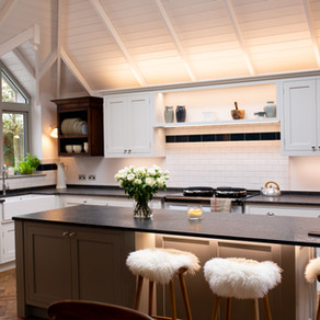 High Vaulted Ceiling - Bespoke Haslemere Kitchen