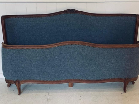 Antique Super King Upholstered Bed off to Brighton!