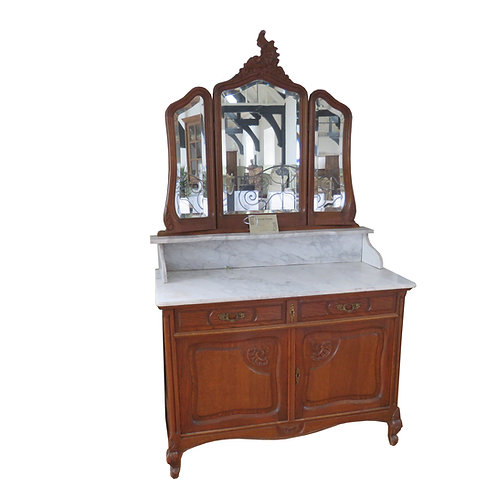 Antique French Oak Dressing Table - F020