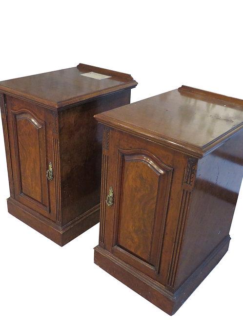 Antique Mahogany Bedside Tables - F025