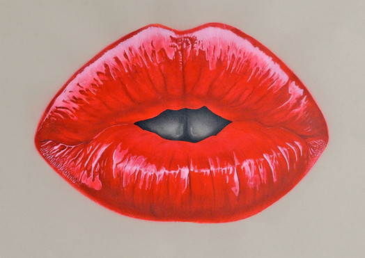 Red lips - Hampshire Artist