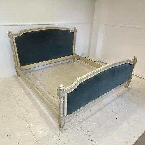 Super King - Antique French Upholstered Bed - UP068