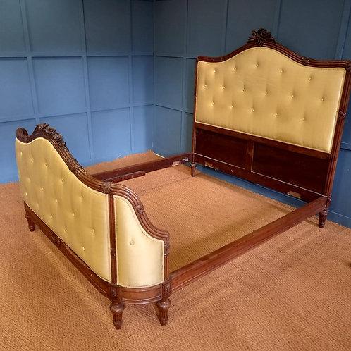 Kingsize - Antique French Upholstered Bed - UP073