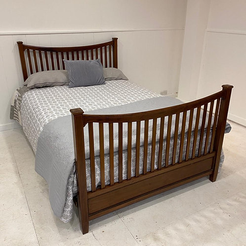 Double - Edwardian Wooden Bed - OW013