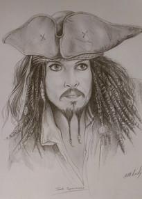 Captain Jack Sparrow Pencil Drawing