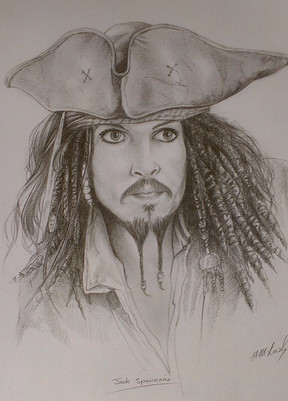 Captain Jack Sparrow Pencil Drawing