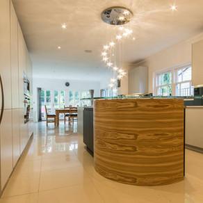 Bespoke Curved Handleless Kitchen - Kingswood, Surrey