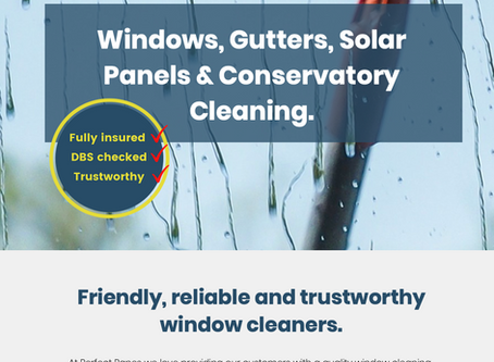 Perfect Panes Window Cleaner in Liss - new website!