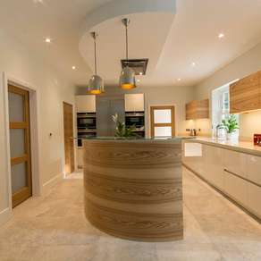 Contemporary Curved Kitchen - Woking, Surrey