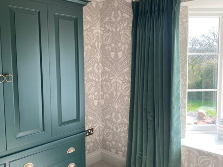 Made to measure curtains in the New Forest, Hampshire.