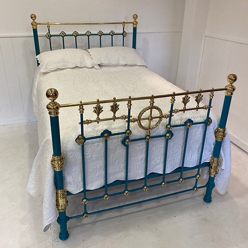 English Victorian Double Brass and Iron Bedstead - OM081