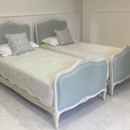 Twin French Upholstered Beds - UP055