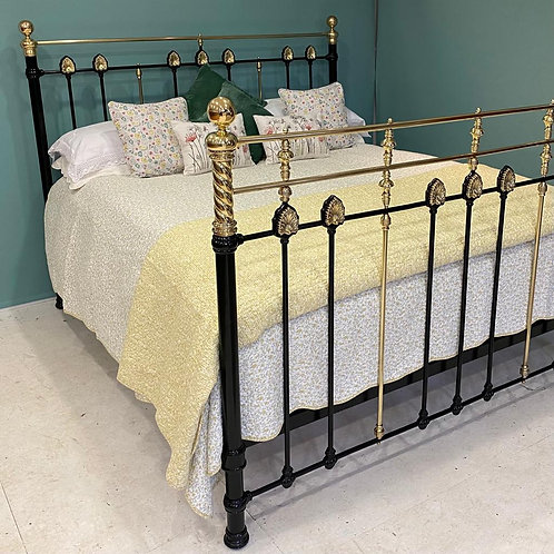 Antique Super King Brass and Iron Bed - OM119