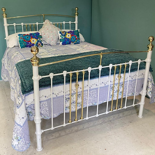 Kingsize - Antique Victorian Brass and Iron Bed - OM143