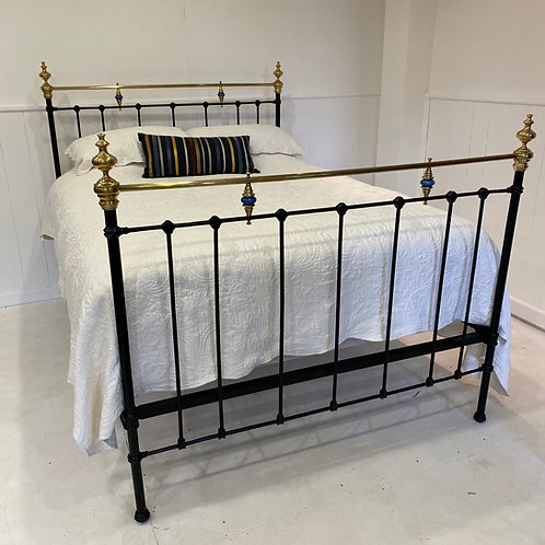 Antique Spanish Kingsize Brass and Iron bed - OM084