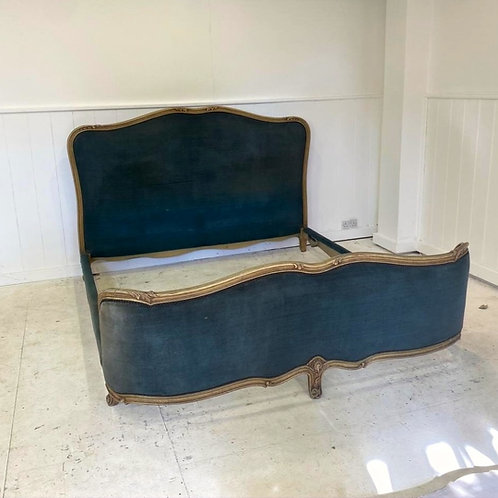 Super King - Antique French Upholstered Bed - UP064