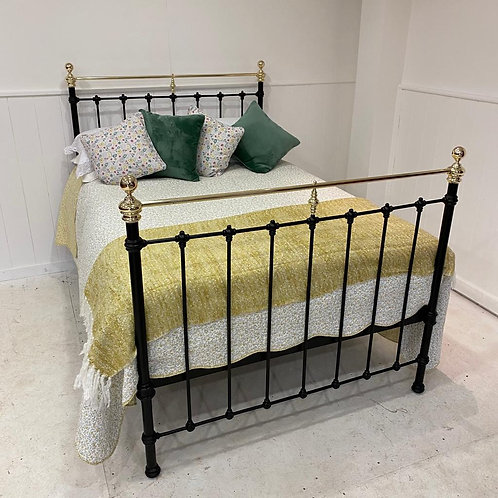 Double - Antique Spanish Brass & Iron Bed - OM120