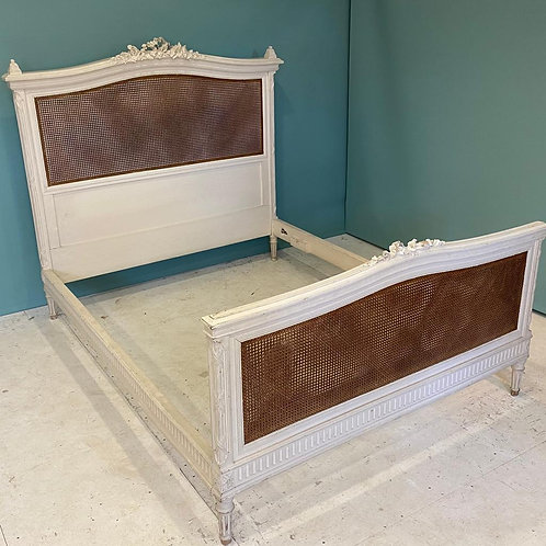 Kingsize - Antique French Caned Bed - OC007