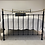 Thumbnail: Double Black Iron and Brass Bed - OM099