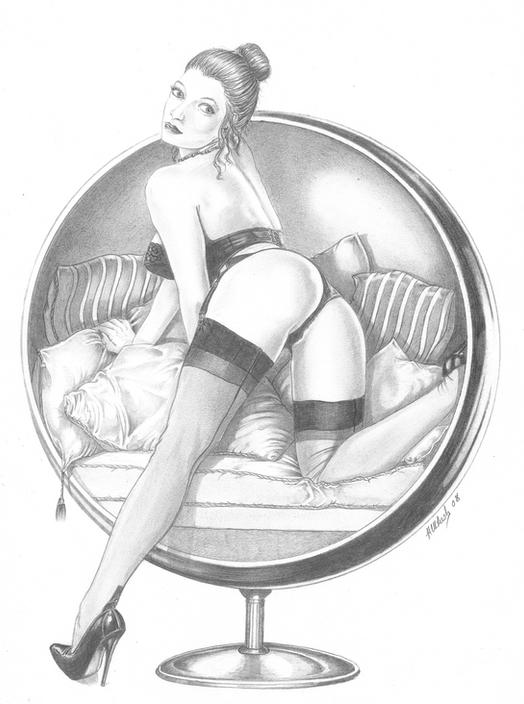 Erotic Drawing - Hampshire Artist