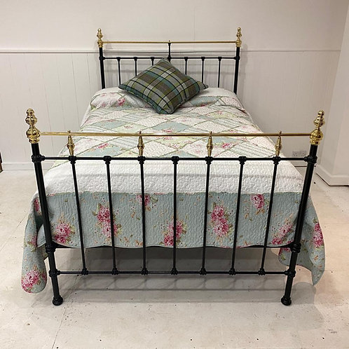 Double - English Victorian Brass and Iron Bed - OM102