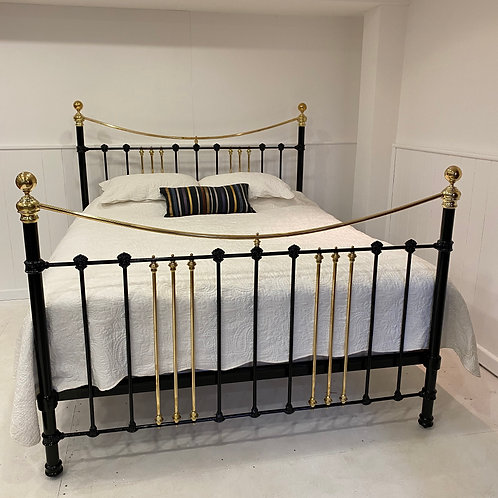 Super King Victorian Brass and Iron Bed Frame - OM087