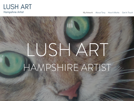 Lush Art - Hampshire Artist, new website