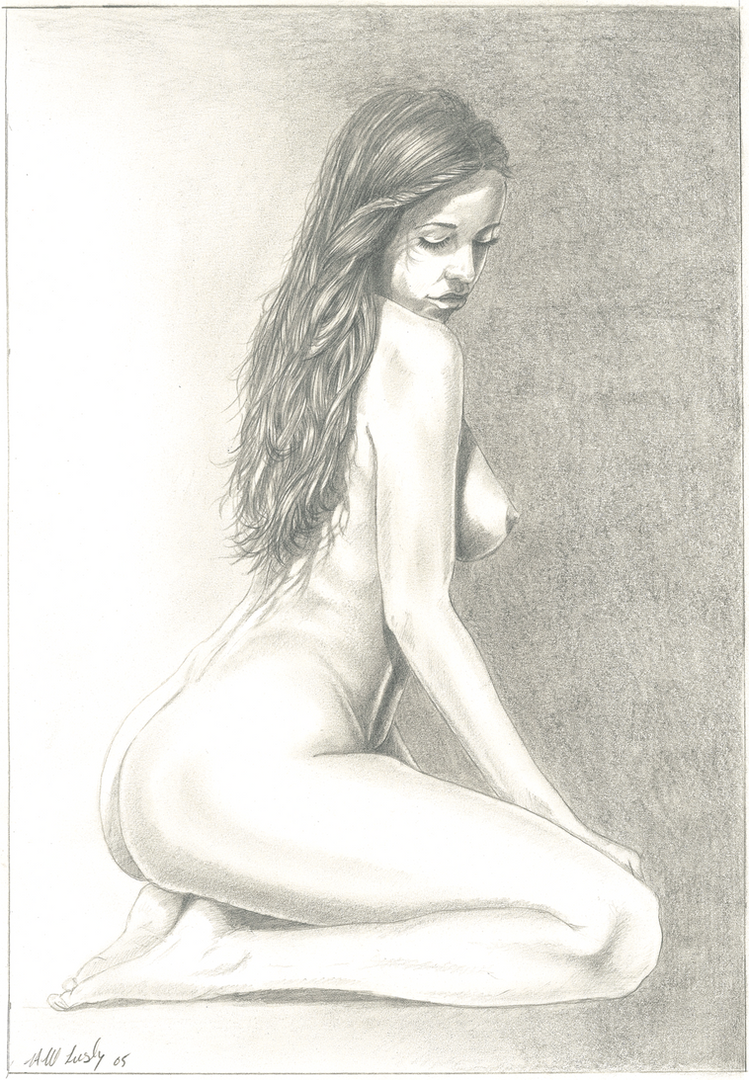 Nude Portrait - Hampshire Artist