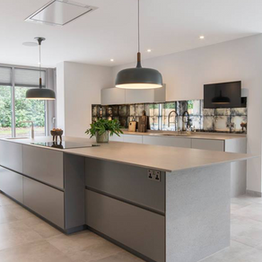 Contemporary Minimalist Kitchen - Lower Bourne, Surrey