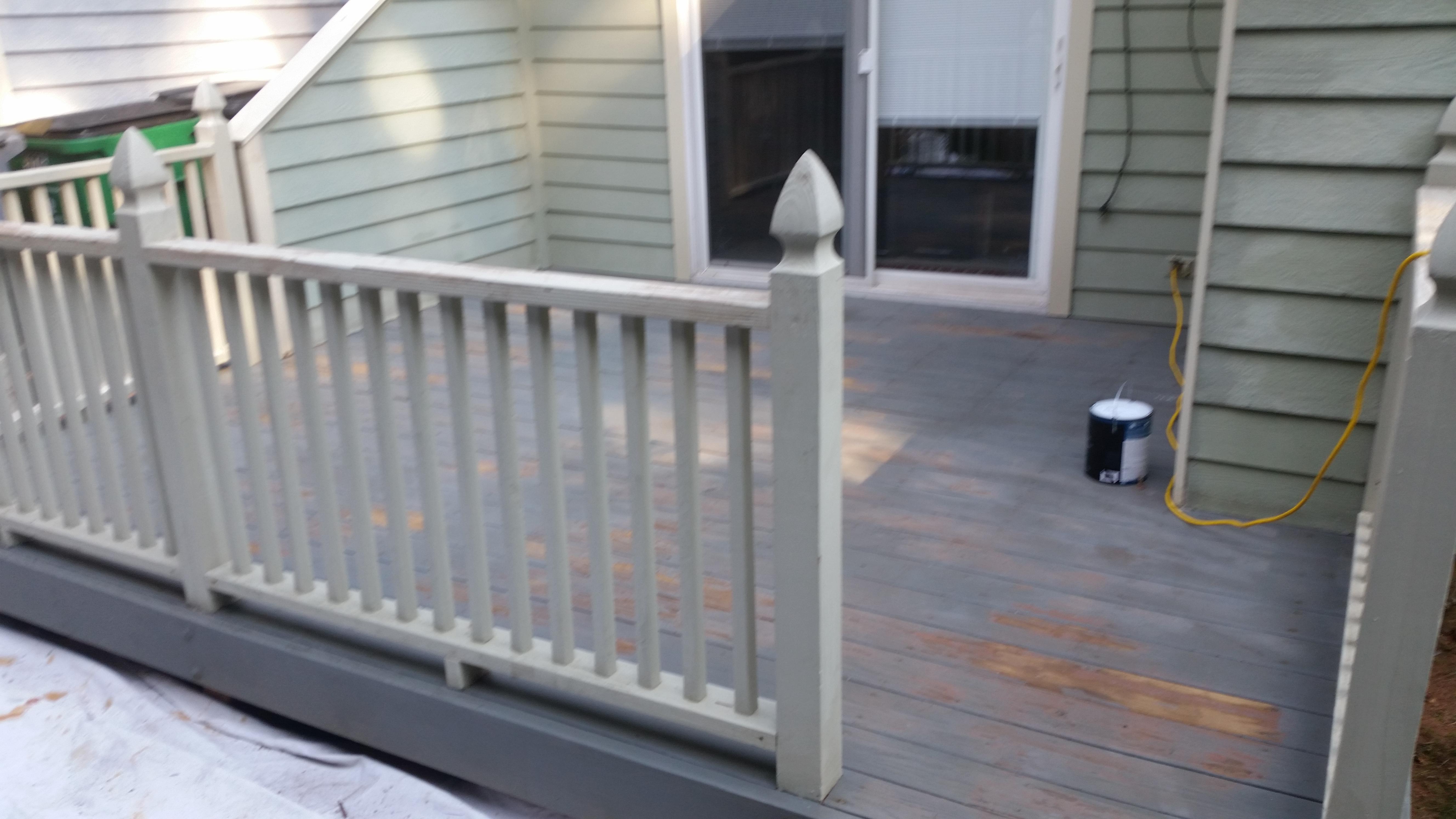 Deck before restoration