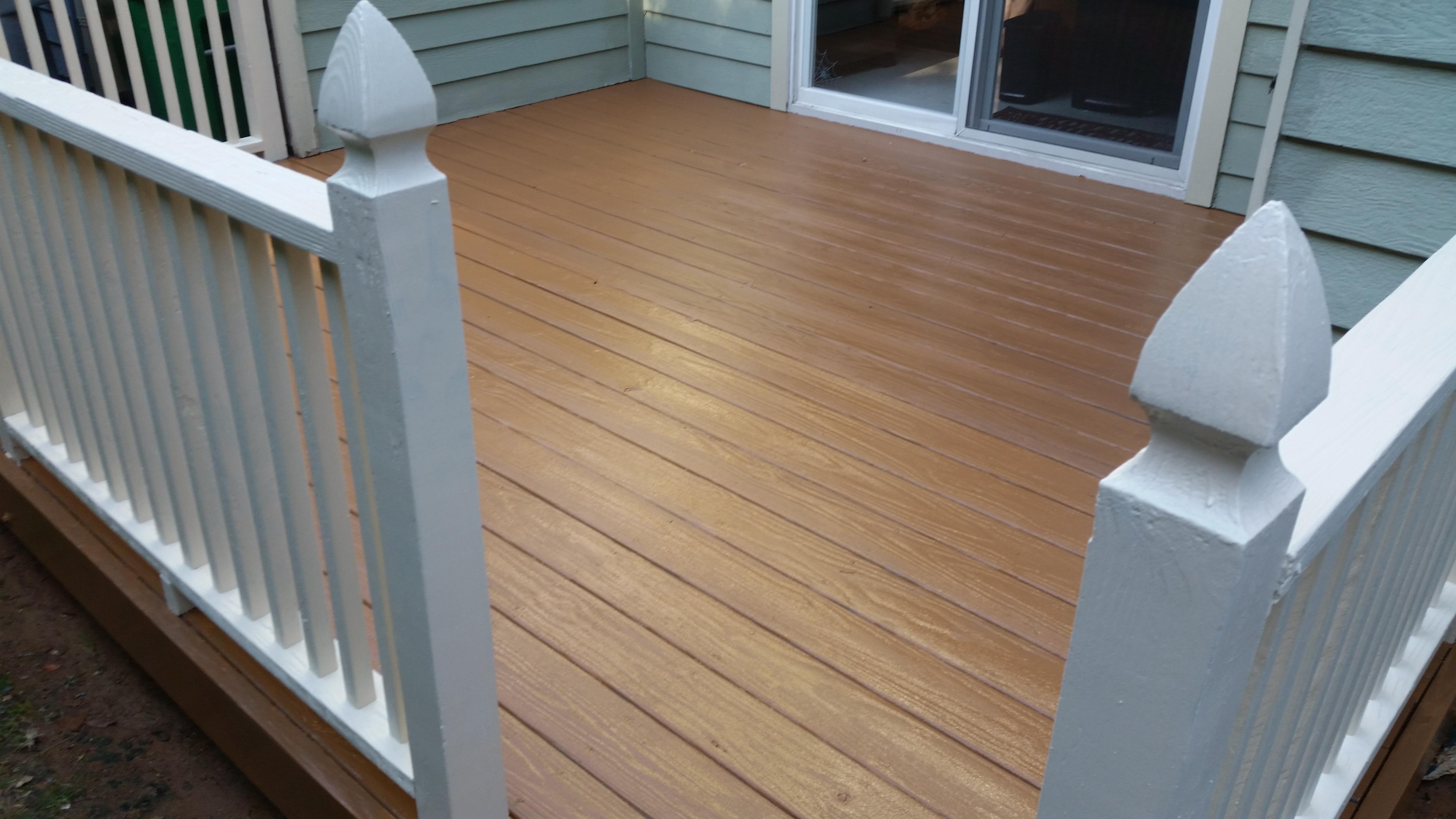 Deck after restoration
