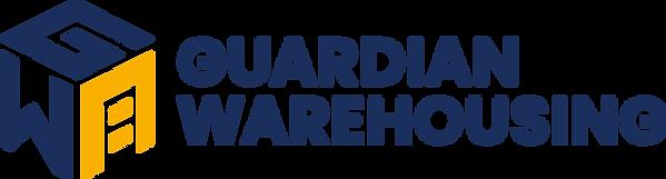 Guardian Warehousing Logo CMYK Blue Text
